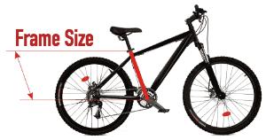 bike frame size