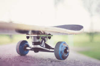 wheels on skateboard